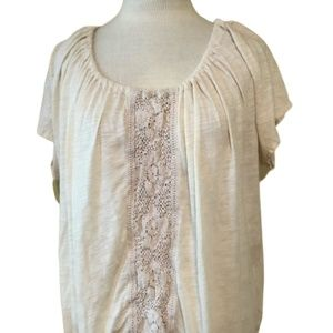 ANTHROPOLOGIE Ett - Tua Cream Boho Blouse
